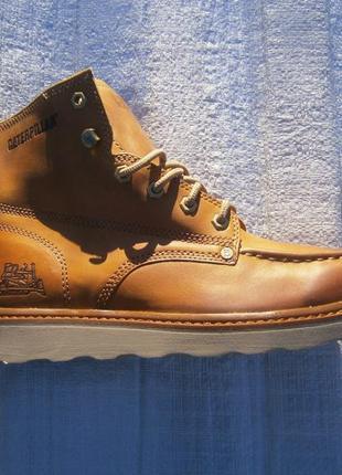 Ботинки cat glenrock mid cut moc toe wedge work boot p722103 оригінал