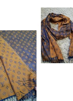 Шикарный шелковый шарф/палантин от yves saint laurent