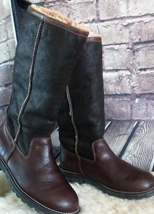 Женские кожаные сапоги ugg. оригинал. натуральная кожа