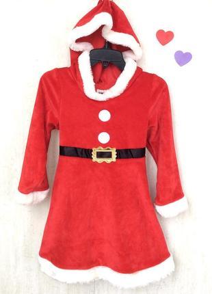 Нарядное рождественское платьице для девочки 2-4 года; рост 98-104 от h&m