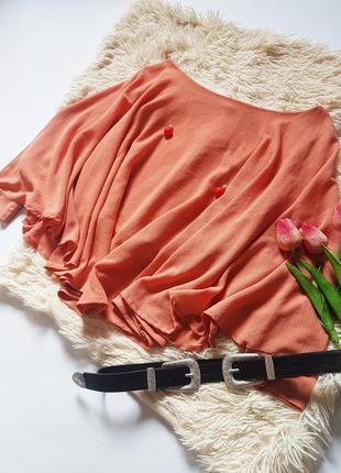 Нюдова блуза вільного крою від zara