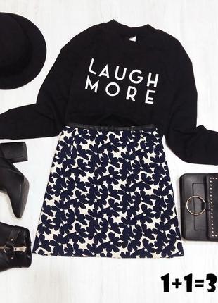 Oasis стильная мини юбка с карманами l 50рр цветочный принт прямая трапеция карандаш