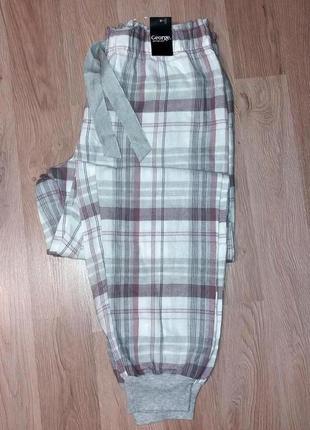 Фланелевые штаны для дома george анг. 12-14 р.,евро 38-40, наш 44-46 р.