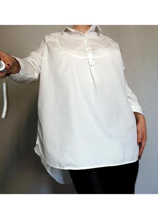 Белая рубашка plus size 20-22 размер.