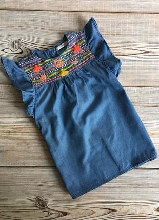 Джинсовое платье, вышиванка george 3-4г