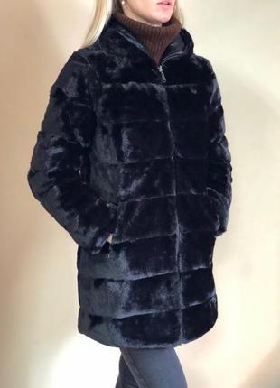 Шуба-куртка двухсторонняя эко-мех италия