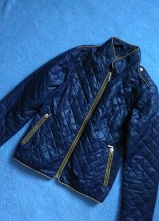 Стильная синяя весенняя осенняя куртка стильна синя весняна осіння курточка