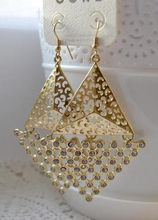 Кульчики з кристалами swarovski core
