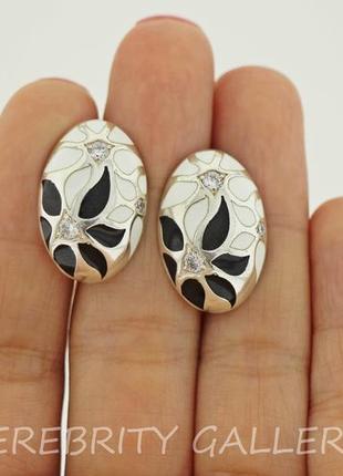 10% скидка - подписчикам! красивые серьги серебряные i 200258 w.bk серебро 925