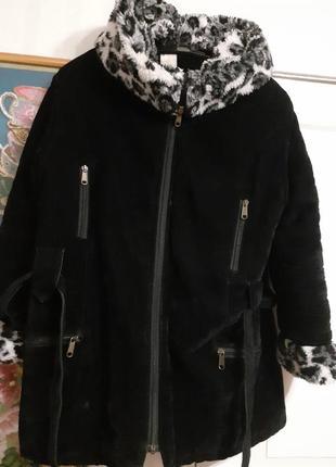 Куртка утепленная с капишоном искуственный мех