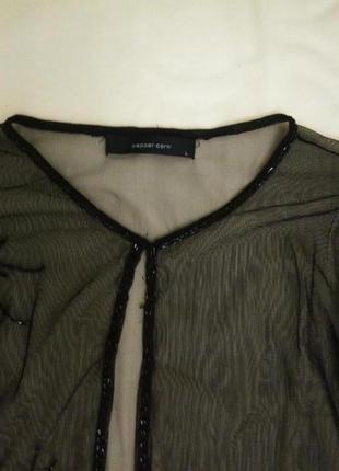 Блузка сетка  рашитая бисером (дания)
