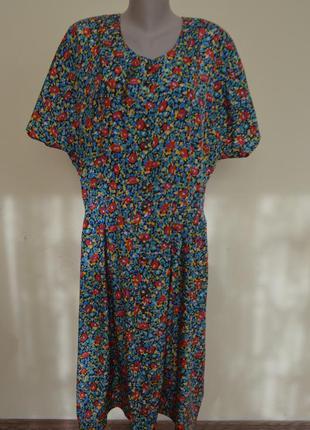 Шикарное стильное французское платье на пуговицах большого размера