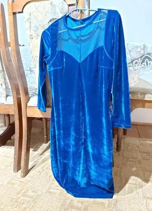 Плаття велюр