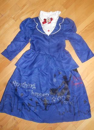 Карнавальное платье мери поппинс дисней на 3-4 г