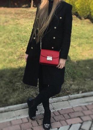 Классическое чёрное пальто zara тёплое пальто длинное пальто двубортное зимнее пальто