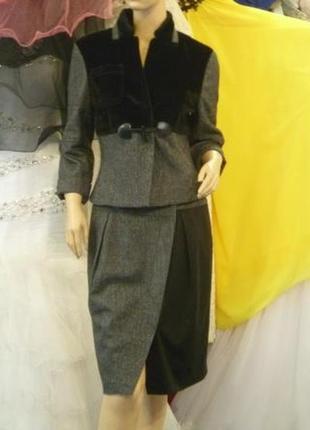 Костюм пиджак+юбка. класса люкс. 46р.-48р