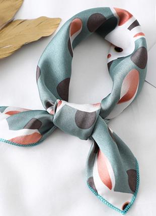 Платок платочек бант лента для волос на сумку топ-качество пыльно голубой кролики