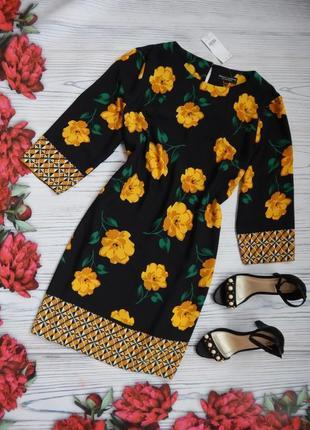 Женское нарядное платье в цветочный принт от dorothy perkins. размер 2xl-3xl(46)🌿