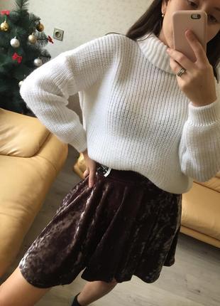 Велюровая бархатная юбка от бренда atmosphere, новая с бирками!
