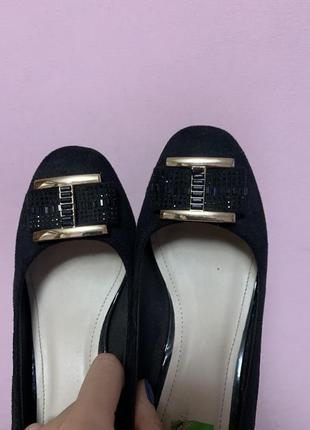 Туфли замш черные