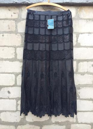 Классная кожаная юбка