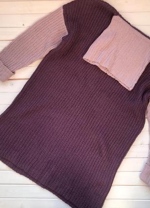 Новое вязаное платье amisu размер м-л