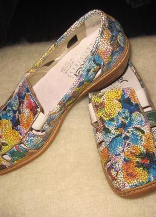 Красивые туфли-мокасины.rieker