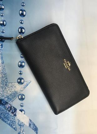 Кожаный кошелёк от coach