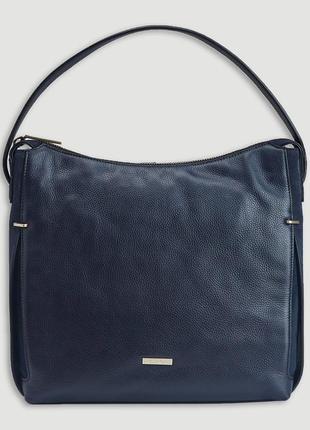 Женская синяя сумка на плечо calvin klein modern hobo