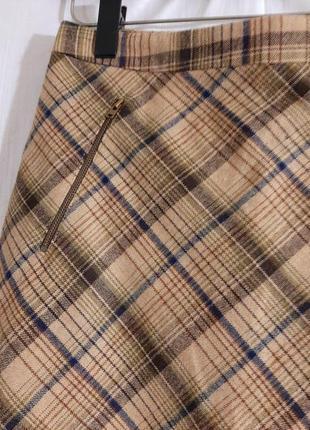 Шерстяная юбка в клетку h&m divided