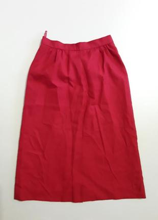 Фирменная полушерстяная теплая юбка