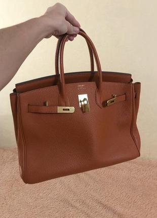 Кожаная сумка сумка кожаная большая hermès birkin