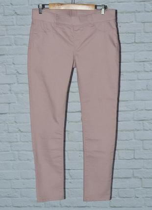Комфортные пудровые женские штаны джеггинсы