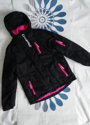 Куртка campri черная горнолыжная лыжная термо термокуртка чорна гірськолижна лижна
