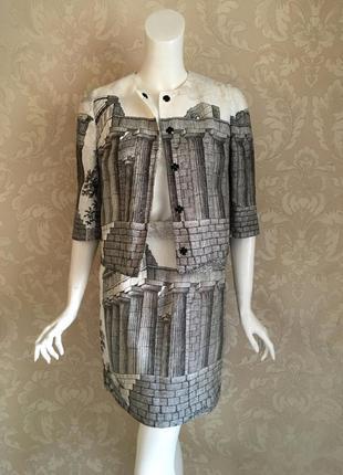 Dolce and gabbana оригинал италия дизайнерский льняной костюм юбка