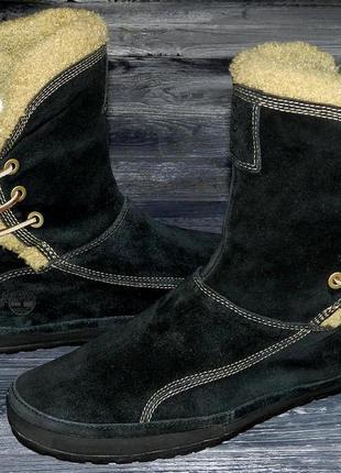 Timberland shearling ! оригинальные, кожаные, невероятно крутые ботинки