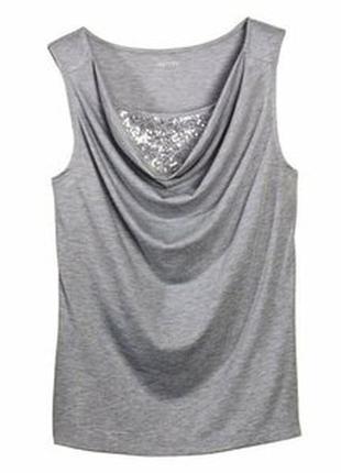 Блуза-топ украшенная пайетками esmara