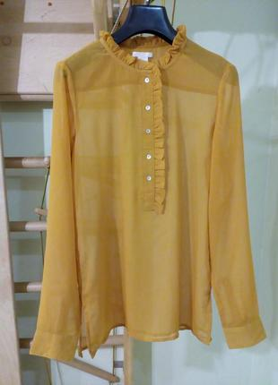 Красивая романтичная нежная шифоновая блуза