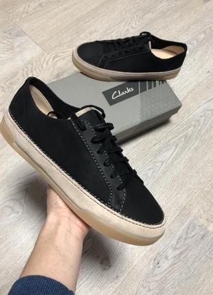 Кеды кожаные новые оригинал clarks чёрные размер 40 женские