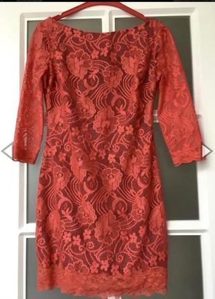 Супер красивое красное гипюровое платье турция