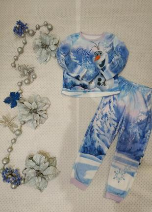 Пижама холодное серце на 6-7 лет 116-122 см