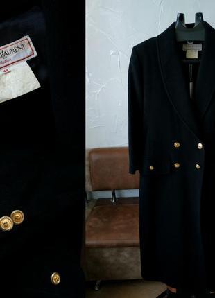 Винтажное шерстяное пальто  yves saint laurent ysl
