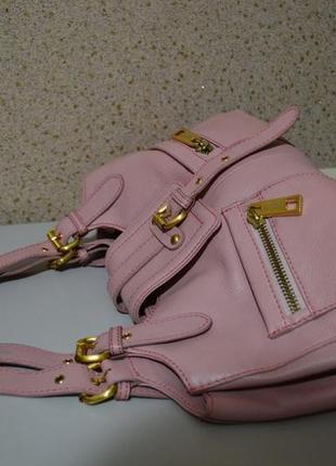 Ri2k кожаная сумка розового цвета.
