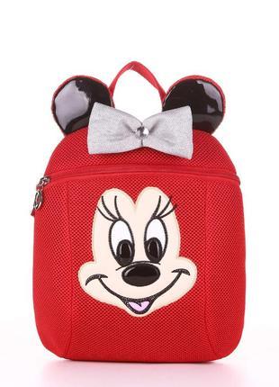 Веселый детский рюкзак для модниц красный мики маус