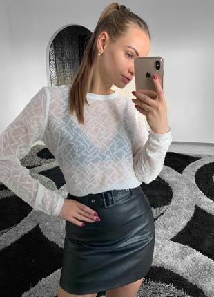 Шикарная белая шифоновая блузка