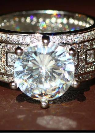 Кольцо серебро 925 колечко широкое серебристое