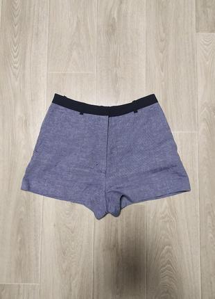 Женские шорты, короткие, размер 36, сего-голубые, sandro