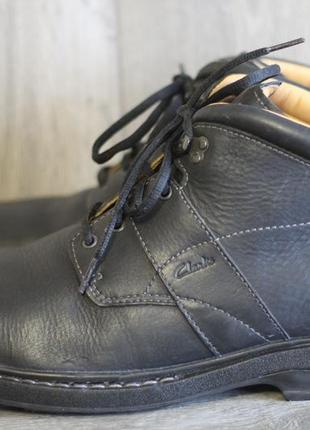 Зимние кожаные ботинки clarks на овчине 46 разм вьетнам