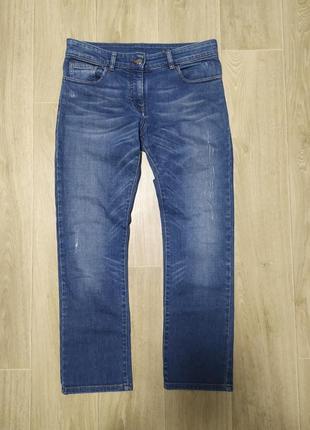 Женские джинсы, с потертостями, синие, размер 34,  kookai