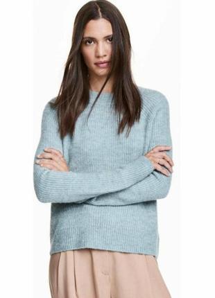 Актуальный свитер оверсайз голубой/голубого цвета от h&m